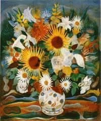 """""""Vaso de flores"""", osm, 60 X 50 cm, 1946"""