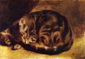 Caes_sleeping cat renoir