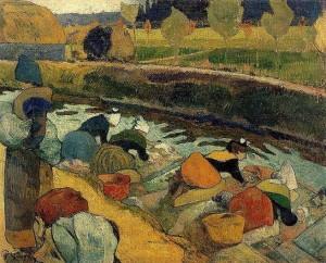 Gauguin_aslavadeirasdearles_1888
