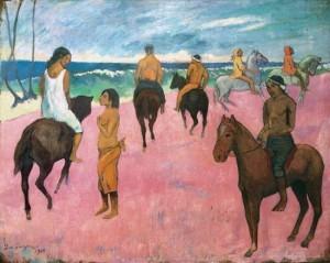 Gauguin_cavaleirosnapraia_1902