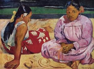 Gauguin_mulheresdetaitinapraia_1891